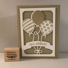 handmade birthday card ... balloon bouquet ... monochromatic kraft ... die cuts ... Stampin' Up!