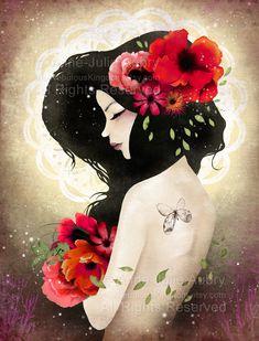 """Talisman"" - Illustration by Anne-Julie Aubry - www.annejulie-art.com / www.thenebulouskingdom.com"