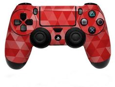 Playstation 4 PS4 Controller Skin Vinyl Decal Skin Red Triangle Mosaic