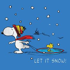 Additional Views: Snoopy Let It Snow Tee Blue