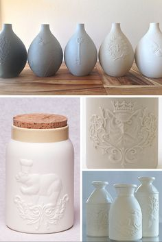 Russell Hackney is one of Canada's foremost ceramic artists, and his finely crafted handmade work is available at Oden Gallery Queen Of England, Ceramic Artists, Antlers, Kitchen Accessories, Home Furniture, Artisan, Display, Cool Stuff, Tv