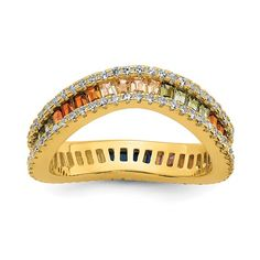 Quality Gold Color Stone, Color 2, Gifts For Women, Gifts For Her, Fine Jewelry, Women Jewelry, Plating, Types Of Rings, White Stone