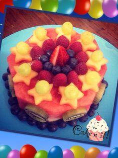 fruit birthday cake fruit birthday cake Pinterest Fruit
