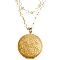 Check out this item at One Kings Lane! Pocket Watch Locket Necklace