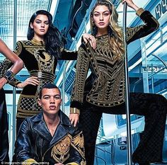 Kendall Jenner gets goofy in behind-the-scenes video from Balmain's H&M; campaign | Daily Mail Online