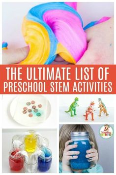 Looking for easy STEM activities for preschooler? These STEM activity ideas are perfect for the preschool classroom or are fun preschool activities for your home! - Kids education and learning acts Preschool At Home, Preschool Science, Preschool Lessons, Preschool Classroom, Classroom Activities, Preschool Curriculum, Homeschool, Pre K Activities, Steam Activities