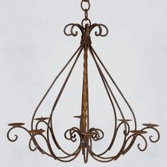 Good The Braided Candle Chandelieru0027s One Of Our Most Popular Wrought Iron Candle  Chandeliers That Will Make Your Space Light Up! Measures 27 Tall By 25