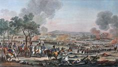 """""""Battle of Wagram"""" colored litho. Caption originally read, Bataille de Wagram, Livrée de 7 Juillet 1809."""