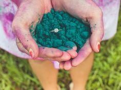 Blogged on www.everythingweddingsandmore.net Holi Powder Engagement Session by Robert J Hill Photography