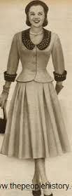 Resultado de imagem para women's suits 1950