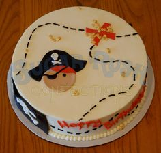 Pirate Birthday Cake | this is so cute! Matches the invitations