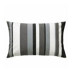VALBORG Fodera per cuscino, grigio/bianco grigio perla, nero € 4,99