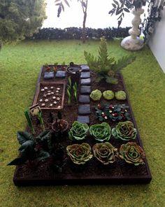 Jardin potager miniature maison de poupées échelle par MadeInEven