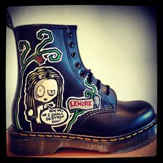 Lenore♡ ~ Custom Painted Doc Martens Request any design by AyinX on Etsy,   299.00 14ed7ab57c28
