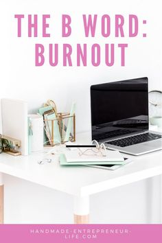 How to handle feelings of burnout when running a handmade business. #etsyseller #etsyshop #etsytips