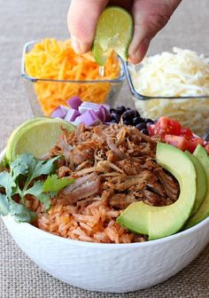 Make this Shredded Pork Taco Bowl in just minutes with a hack from the store!