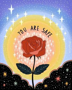 You are safe. Spirited Art, Hippie Art, Art Journal Pages, Wall Collage, Cute Wallpapers, Word Art, Art Inspo, Iphone Wallpaper, Illustration Art