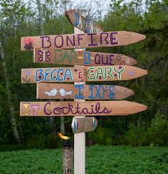 definately will do this! cool diy outdoor wedding sign