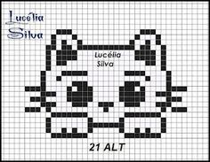 Inaiê Art´s: Mosaico utilizando gráfico de ponto cruz
