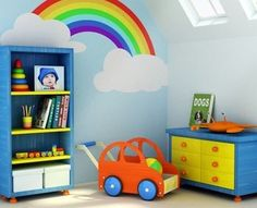 Would love to make my kids their own rainbow on the bedroom wall