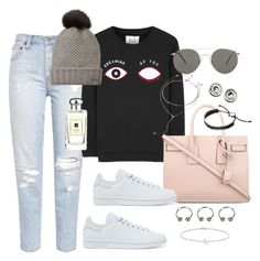 """Run and Hide"" by marissa-91 ❤ liked on Polyvore featuring Zoe Karssen, Burberry, Yves Saint Laurent, adidas Originals, Le Specs, Forever 21, Links of London, Minor Obsessions, DKNY and Jo Malone"