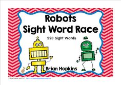 Robots Sight Word Race is a board game where your students read a word and then roll one die (dice) and move that many spaces on the board. When students land on a robot they get to go again. There are 20 fun cards that will tell your students to go again, go ahead 2 or 3 spaces, go back 2 or 3 spaces, trade spaces, lose a turn, or go back to start. Feel free to print multiple pages of the fun cards.