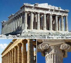 i templi greci e la luce