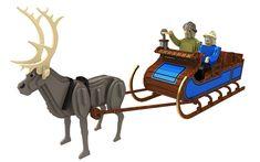 Sven Sleigh & Reindeer