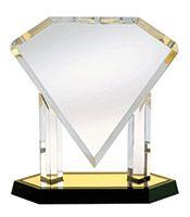 "12"" Diamond Acrylic Award...""is this diamond big enough?"""