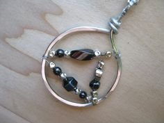 Shiny Game of Thrones Inspired Hematite Necklace Gothic by Banba, $35.00