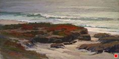 Pebble Beach Grays by Kim Lordier Pastel ~ 12 x 24