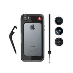 Black Bumper+ 3 lenses (fisheye, portait 1.5X, wideangle) #iphone #mobile #photography #gear #lenses