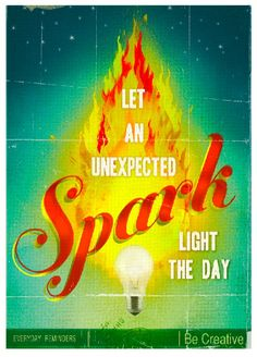 Let an unexpected spark  large print by pleasebestill on Etsy, $39.99