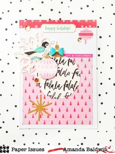 Christmas cards for the @paperissuesteam #productspotlight on all the Christmas things! Features Crate Paper FaLaLa collection