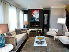 Contemporary | Living Rooms | Shirry Dolgin : Designer Portfolio : HGTV - Home & Garden Television