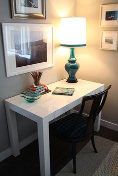 Parsons Desk from West Elm via @Gilda Locicero Therapy