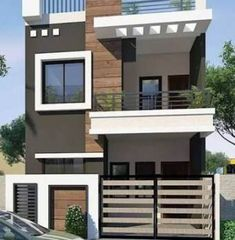 57 Trendy Ideas for house design exterior modern indian House Outer Design, House Front Design, Small House Design, 2 Storey House Design, Duplex House Design, House Map Design, Indian Home Design, Latest House Designs, Cool House Designs