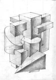 построение геометрических фигур: 4 тыс изображений найдено в Яндекс.Картинках Perspective Drawing Lessons, Perspective Art, Geometric Shapes Drawing, Geometric Art, House Design Drawing, Sketch Design, Jr Art, Still Life Drawing, Object Drawing