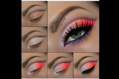 Bright eye makeup
