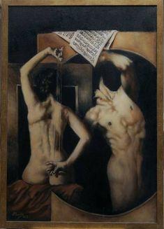 "Saatchi Art Artist Nikos Mourikis; Painting, ""Requiem dell' Amore"" #art Oil On Canvas, Saatchi Art, Artworks, Original Paintings, Cats, Artist, Animals, Amor, Gatos"