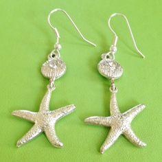 Bridal Seashore Earrings by joytoyou41 on Etsy, $18.00