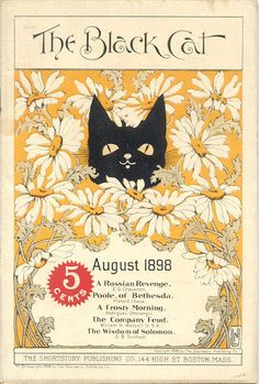 August 1898 cover of The Black Cat Magazine by Nelly Littlehale Umbstaetter