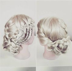 Beautifully Updo Hair Style with Waterfall Braid - Prom Hairstyles 2016