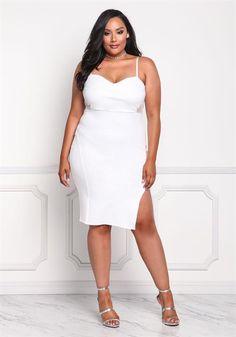 Plus Size Mesh Trim Bodycon Dress
