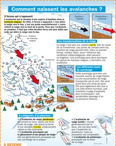 Fiche exposés : Comment naissent les avalanches ? Cultura General, School Grades, French Lessons, Teaching French, Learn French, French Language, Geology, Social Studies, Physics