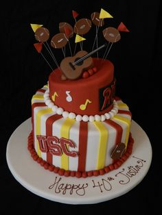 Usc Birthday Cake Images : USC Celebration of Life Cake. Cake is completely edible ...