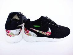 the best attitude 41e55 f5604 Nike Roshe One for Women Shoes Black White on Sale Flower Yeezy 350 Shoes,  Nike