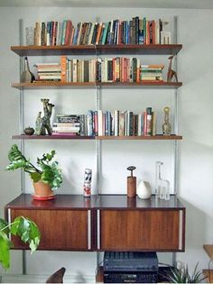 Wall-Mounted Bookshelves in Real-Life Spaces | Apartment Therapy