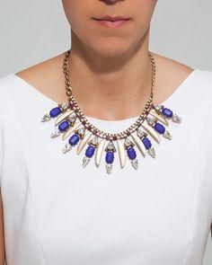 Pretty Blue Statement Necklace