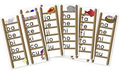these are great printables for phonics. I printed, folded a page protector over and had a front and back ladder for each letter.